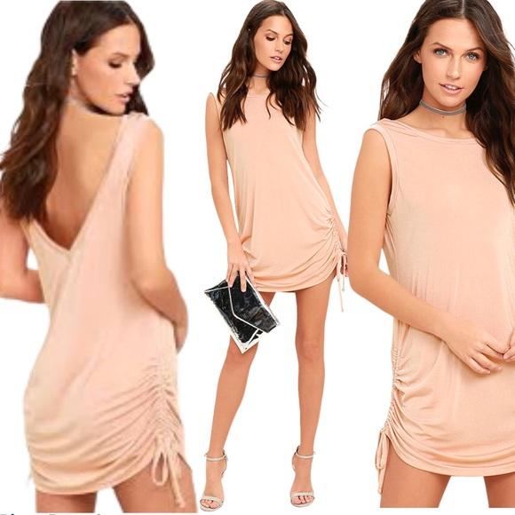 Lulu's Hey Girl Sexy Blush Pink Shift Dress S NWT